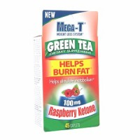 MEGA-T Green Tea with Raspberry Ketone, Caplets 45 ea [018515117212]