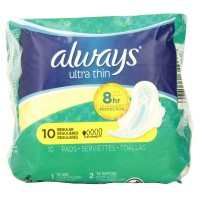 Always Ultra Thin Pads Regular Flexi-Wings 10 ea [037000349662]