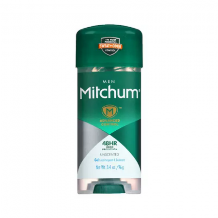 Mitchum Advanced Control Unscented Gel, Anti-Perspirant & Deodarant 3.4 oz [309978632009]
