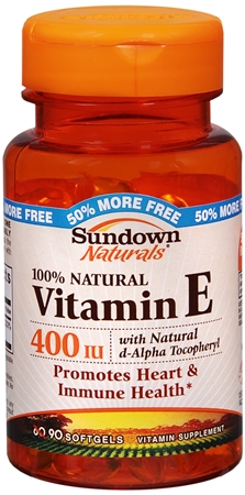 Sundown Vitamin E 400 IU Softgels D-Alpha Tocopheryl 90 Soft Gels [030768452728]