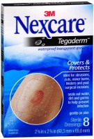Nexcare Tegaderm Transparent Dressings 2-3/8 Inches X 2-3/4 Inches 8 Each [051131641143]