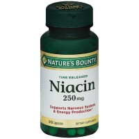 Nature's Bounty Natural Time Release Niacin 250 mg Capsules 90 ea [074312058004]