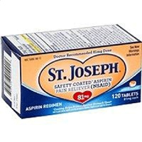 St. Joseph Enteric Coated Aspirin 81mg 120 Tablets [816526010016]