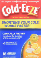 COLD-EEZE Lozenges Natural Tropical Orange 18 Each [091108300147]