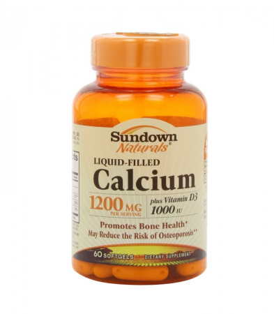 Sundown Calcium 1200 Plus D Liquid Filled Softgels 60 ea [030768009670]