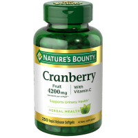 Nature's Bounty Cranberry Plus Vitamin C, 4200 mg, Softgels 250 ea [074312043635]