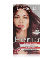 L'Oreal Paris Feria Power Reds High-Intensity Shimmering Colour, Blowout Burgundy [R37] (Warmer) 1 ea [071249217917]