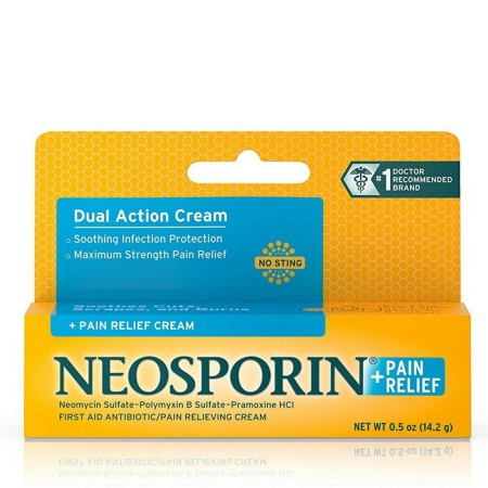 Neosporin Plus Pain Relief, Maximum Strength, First Aid Antibiotic Cream 0.5 oz [300810737944]