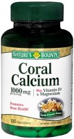 Nature's Bounty Coral Calcium 1000 mg Plus Vitamin D & Magnesium Capsules 120 Capsules [074312129902]