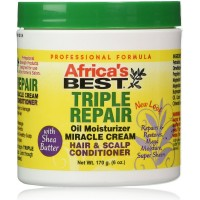Africa's Best Triple Repair Oil Moisturizer Miracle Cream Hair & Scalp Conditioner 6 oz [034285120061]