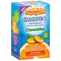 Emergen-C Immune + with Vitamin D Dietary Supplement Chewables Tablets 14 ea [885898100304]