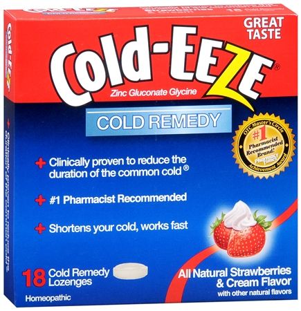 COLD-EEZE Lozenges Natural Strawberries and Cream 18 per box [091108102970]