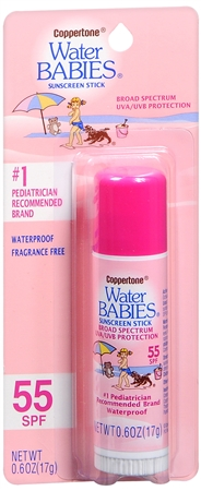 Coppertone Water Babies Sunscreen Stick SPF 55 0.60 oz [041100703637]