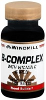 Windmill B-Complex Tablets With Vitamin C and Iron 100 Tablets [035046011369]