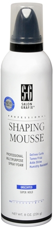 Salon Grafix Shaping Mousse Unscented Super Hold 8 oz [034044155099]