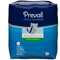 "Bladder Control Pad Prevail Male Guard 13"" Length Moderate Absorbency Polymer Male Disposable [090891600731]"
