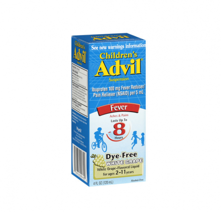 Advil Children's Suspension Fever, White Grape 4 oz [305730290302]