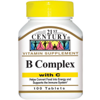21st Century B Complex With C Tablets 100 ea [740985226681]