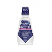 Crest 3D White Luxe Glamorous White Multi-Care Whitening Mouthwash, Fresh Mint 32 oz [037000089872]