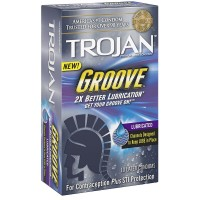 TROJAN Groove Lubricated Condoms 10 ea [022600019534]