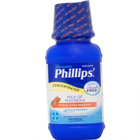 Phillips' Concentrated Milk of Magnesia Saline Laxative, Fresh Strawberry 8 oz [312843553965]