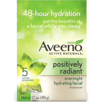 AVEENO Active Naturals Positively Radiant Overnight Hydrating Facial Moisturizer 1.7 oz [381371023622]