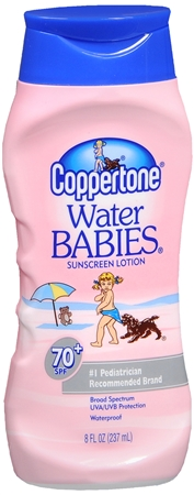 Coppertone Water Babies Sunscreen Lotion SPF 70+ 8 oz [041100002204]