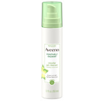 AVEENO Positively Radiant Hydrating Micellar Gel Facial Cleanser with Moisture Rich Soy & Kiwi Complex, Hypoallergenic 5.1  oz [381371180189]