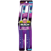 REACH Total Care Floss Clean Value Pack Adult Toothbrushes, Medium 2 ea [840040195508]