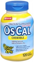 Os-Cal  500+D Calcium Supplement Chewable Tablets 120 Tablets [307661663101]