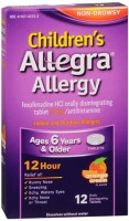 Allegra Children's Allergy Orally Disintegrating Tablets Orange Cream Flavored 12 Tablets [041167423332]