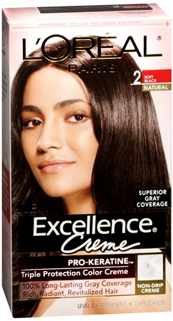L'Oreal Excellence Creme - 2 Soft Black (Natural) 1 Each [071249197110]