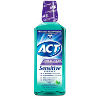 ACT Total Care Anticavity Fluoride Mouthwash Sensitive Formula Mild Mint 18 oz [041167096413]