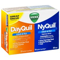 Vicks DayQuil & NyQuil Cold & Flu Combo Pack LiquiCaps 48 ea [323900014527]