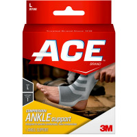 ACE Brand Compression Ankle Support, Large 1 Each [051131198098]
