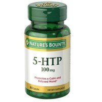 Nature's Bounty 5-HTP 100 mg Capsules Double Strength 60 ea [074312053153]