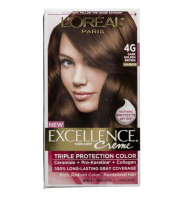 L'Oreal Paris Excellence Creme Haircolor, Dark Golden Brown [4G] (Warmer) 1 ea [071249033166]