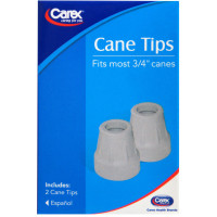 Carex Gray Cane Tips 3/4 in, 2 ea [023601007254]