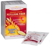 Konsyl Orange Flavor Psyllium Fiber Sugar Free Powder Packets, 30 ea [302241855822]