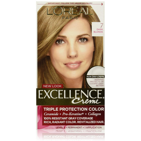 L'Oreal Excellence Triple Protection Permanent Hair Color Creme Dark Blonde [7] 1 ea [071249210642]