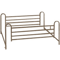 Drive Medical Deluxe Full Length Hospital Bed Side Rails, Brown Vein 1 ea [822383179490]