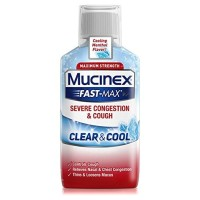 Mucinex Fast-Max Clear & Cool Adult Liquid - Severe Congestion & Cough 6 oz [363824541662]