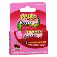 Pepto-Bismol To-Go Chewable Tablets, Cherry 24 ea [301490000175]