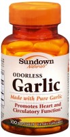 Sundown Naturals Odorless Garlic Softgels 100 Soft Gels [030768004088]