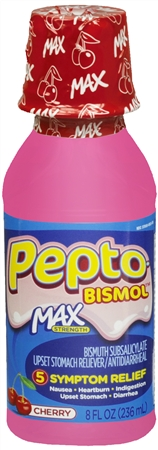 Pepto-Bismol Max Liquid Cherry 8 oz [301490856017]