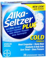 Alka-Seltzer Plus  Cold Formula Effervescent Tablets Sparkling Original 20 Tablets [016500537649]