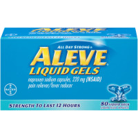Aleve Pain Reliever/Fever Reducer Liquid Gels, 80 ea [325866528124]