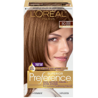 L'Oreal Paris Superior Preference Fade-Defying Color + Shine System, Medium Golden Brown (Warmer) [5G] 1 ea [071249253083]
