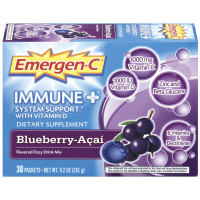 Emergen-C Immune+ System Support with Vitamin D Flavored Fizzy Drink Mix, Blueberry-Acai 30 ea [885898000079]