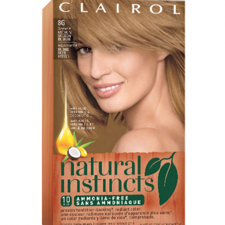 CLAIROL Natural Instincts 8G Medium Golden Blonde 1 Each [381519003158]